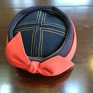 Lucila Mendez Vintage Navy/Red Hat/Topstitching